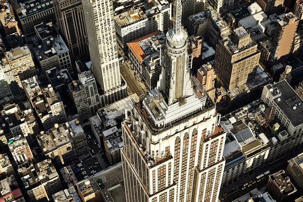 closeup of empire building