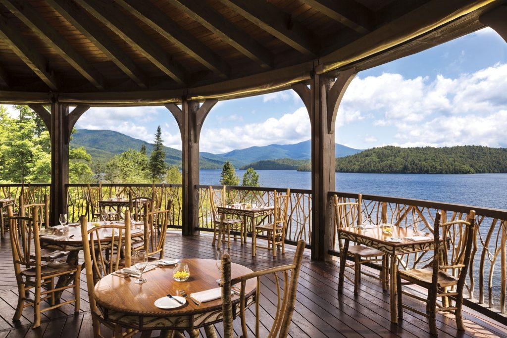 lake placid lodge terrace outside