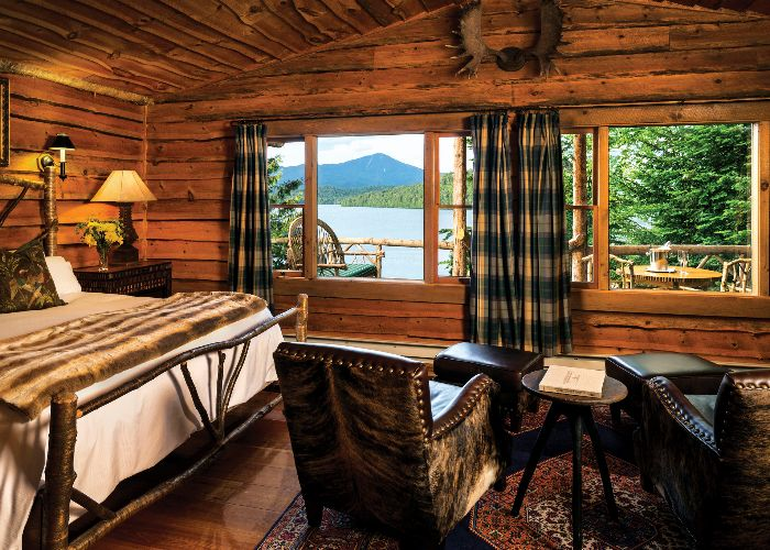 lake placid lodge bedroom
